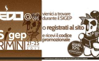 Sponsor dei Campionati italiani 2017, Edo e il suo team ti aspettano al SIGEP allo Stand 095 Pad. D1