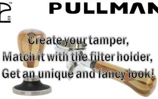 Pullman Tampers and filter holders handles now on Edo Barista!