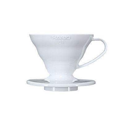 WHITE PLASTIC HARIO V60 DRIPPER 1CUP