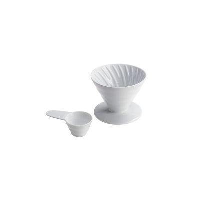 COFFEE DRIPPER V60  IN CERAMICA BIANCO 2CUPS