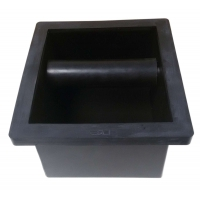 MATT BLACK KNOCK BOX WITH BOTTOM