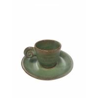 EDO COFFEE SET UZU LINE GREEN