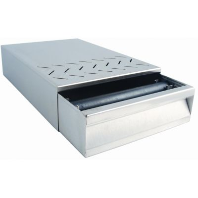 HEAVY STAINLESS STEEL KNOKBOX DRAWER FOR COUNTER