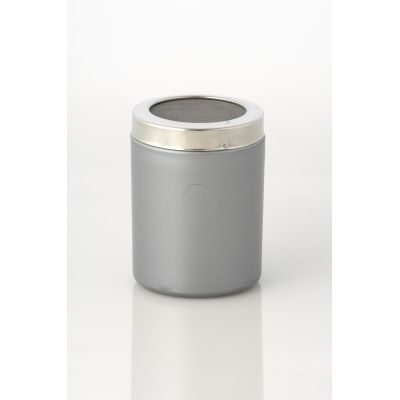 SILVER COCOA SHAKER WITH SMALL HOLES