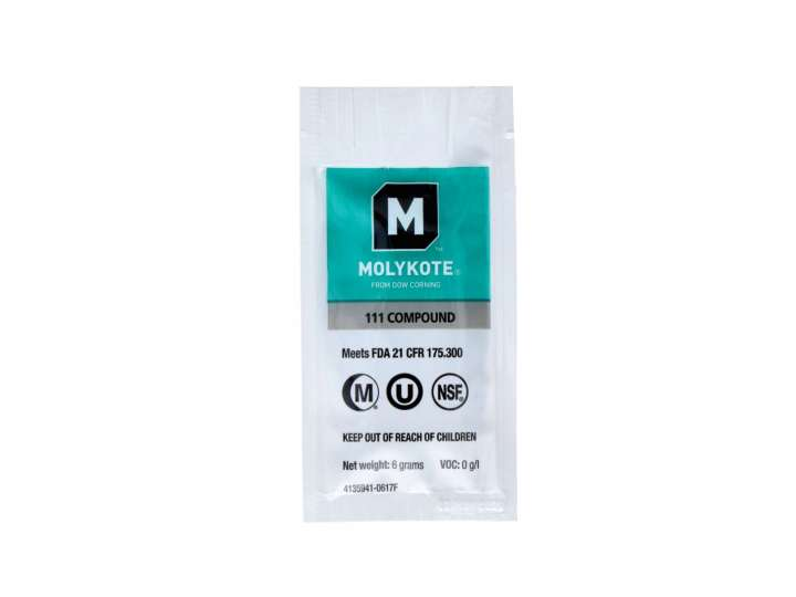 GREASE MOLYKOTE 111 COMPOUND - PACKET 6gr - NSF