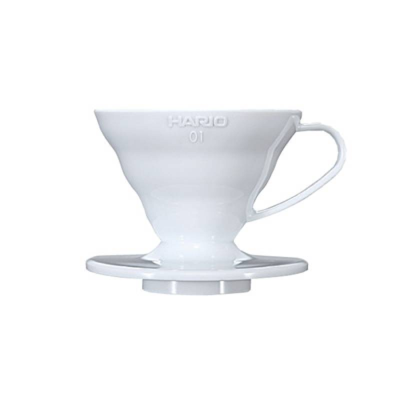 COFFEE DRIPPER V60  IN PLASTICA BIANCO 1CUP