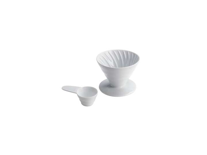 COFFEE DRIPPER V60  IN CERAMICA BIANCO 2CUPS