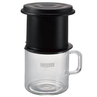 Hario Cafeor 200 ml One Cup Drip Brew Coffee Infuser Mug Glass