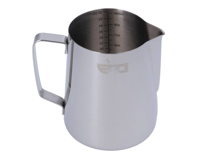 EDO BARISTA LINED STAINLESS STEEL MILK PITCHER - 1000 ml/33 oz