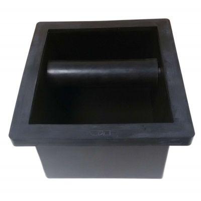 MATT BLACK KNOCK BOX WITH BOTTOM