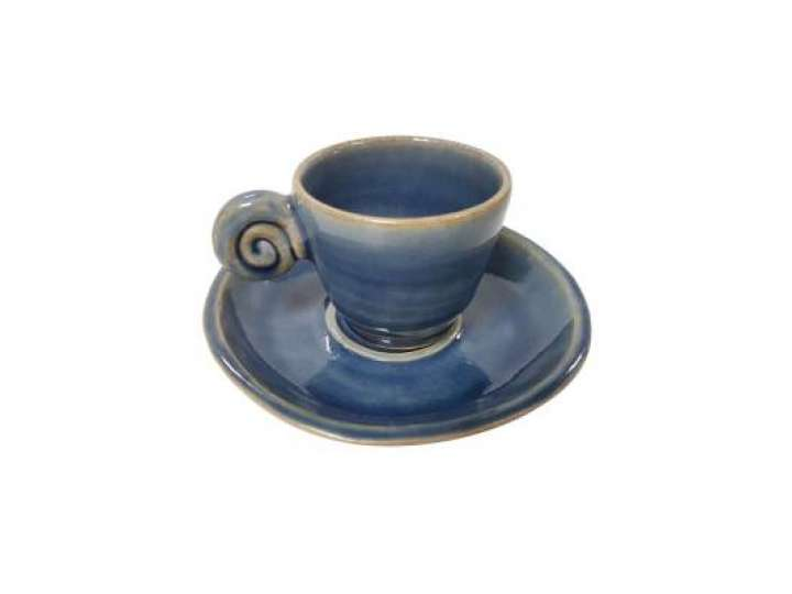 EDO COFFEE SET UZU LINE BLUE