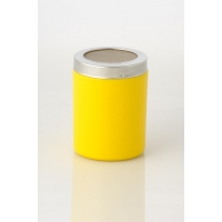 YELLOW COCOA SHAKER WITH SMALL HOLES