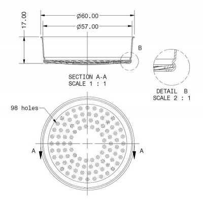 COMPETITION SHOWER SCREEN - E61 200 IM